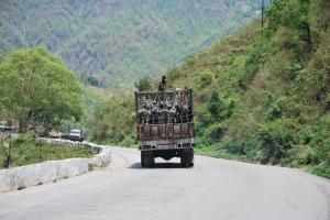 drumul spre Nagarkot