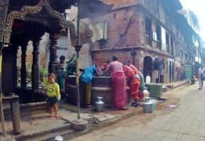fântână in Bhaktapur